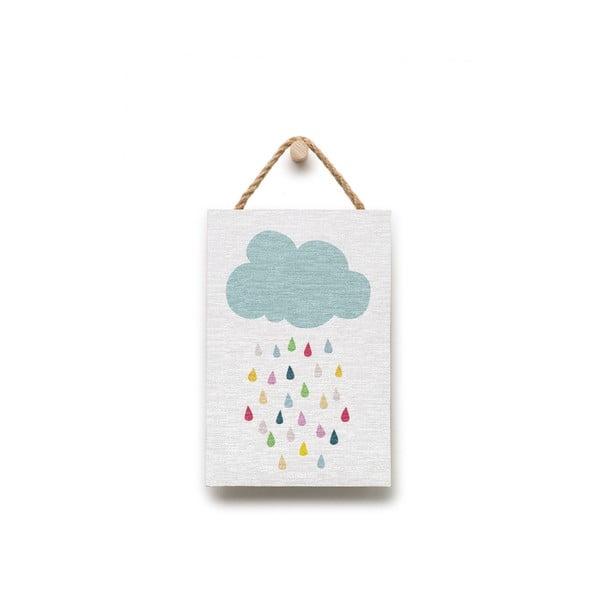 Nástenná dekorácia s motívom dažďa KICOTI, 20 × 30 cm