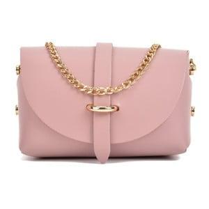 Růžová kožená kabelka Sofia Cardoni Rosena