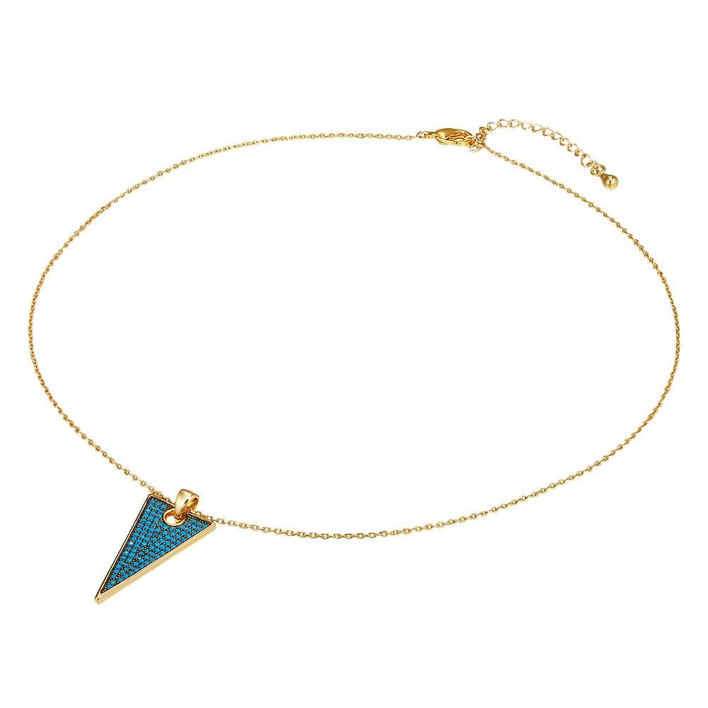 Dámský náhrdelník zlaté barvy s motivem kouzelné dlaně Tassioni Eye