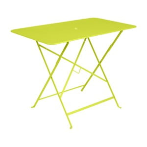 Světle zelený zahradní stolek Fermob Bistro, 97 x 57 cm