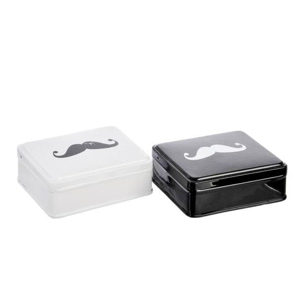 Sada 2 krabiček Mustache