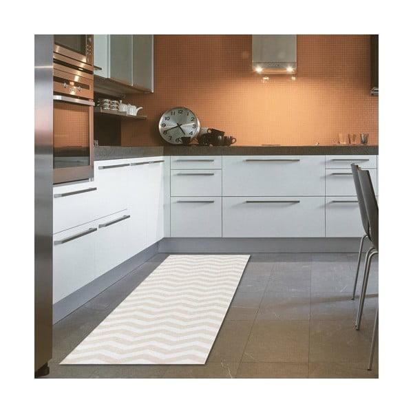 Vysokoodolný kuchynský behúň Webtappeti Optical Beige, 60×220cm