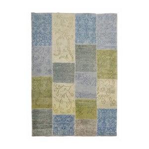 Ručně vyráběný koberec The Rug Republic Castle Blue Green, 140 x 200 cm