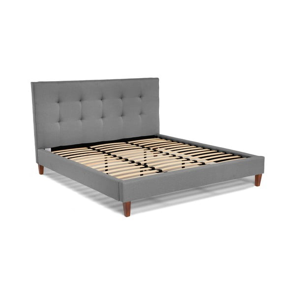 Sivá dvojlôžková posteľ Chez Ro Skagen, 160×200 cm