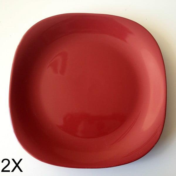 Set 2ks hlubokých talířů, červená