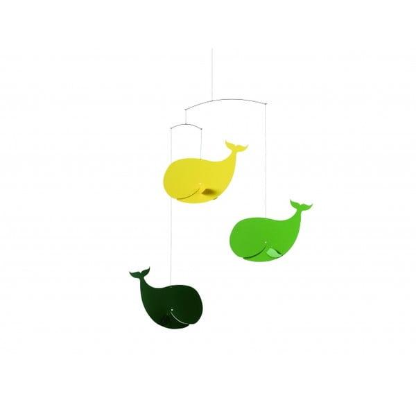Závěsná mobilní dekorace Happy Whales