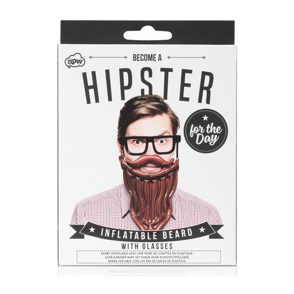 Set nafukovacích vousů a brýlí npw™ Hipster For The Day
