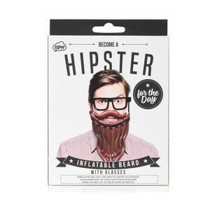 Set nafukovacích vousů a brýlí NPW Hipster For The Day