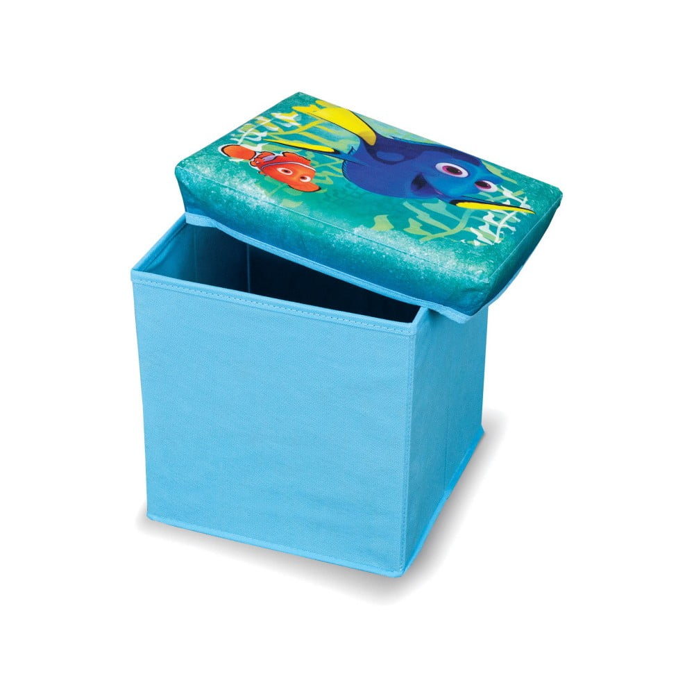 Modrá úložná taburetka na hračky Domopak Finding Dory, délka30cm