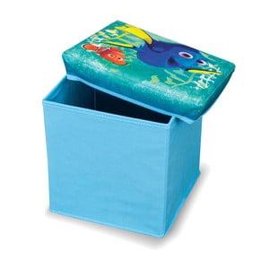Modrá taburetka Domopak Living Finding Dory, malá