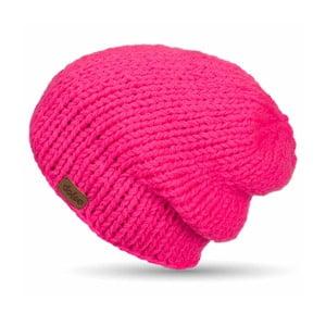 Căciulă tricotată manual  DOKE Pink Beanie