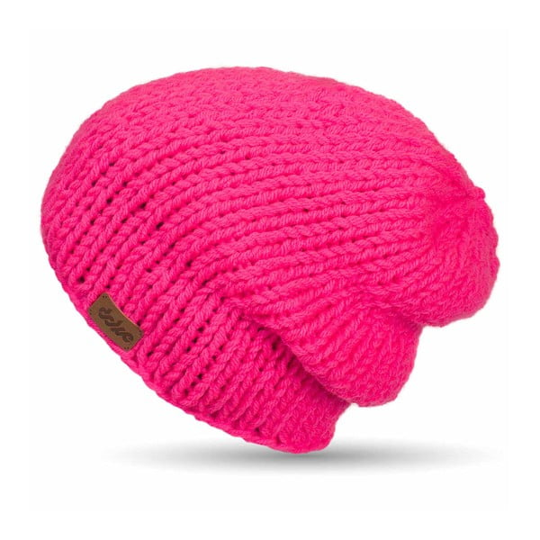 Ručně pletená čepice DOKE Pink Beanie
