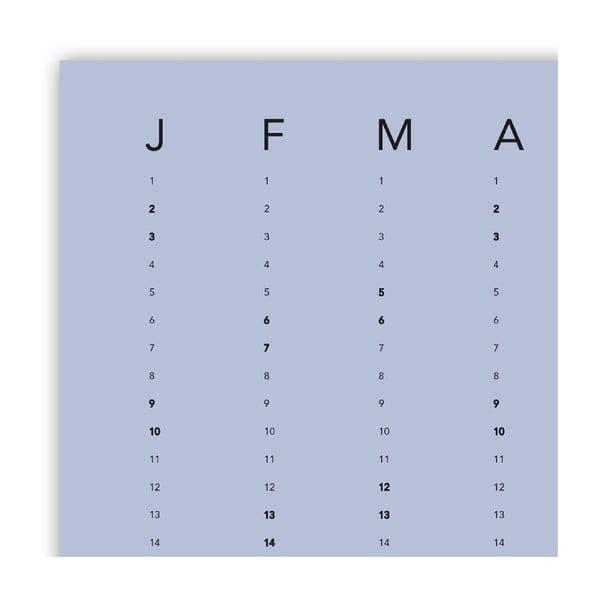 Nástěnný kalendář SNUG.Column, modrý