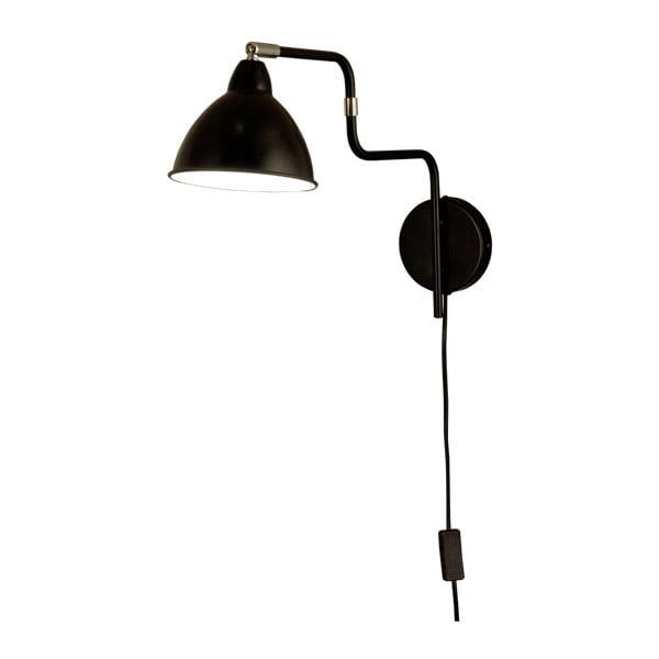 Černé nástěnné svítidlo Scan Lamps Ally