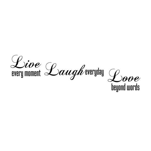 Dekorativní nástěnná samolepka Live Laugh Love