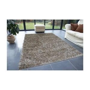 Béžový koberec Webtappeti Shaggy, 60x100cm