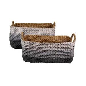 Sada 2 pletených košů z vodního hyacintu HSM Collection  Cilly