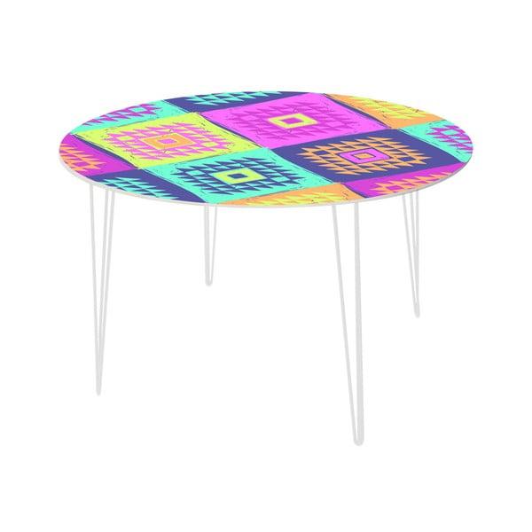 Jídelní stůl Colorful Triangles, 120 cm