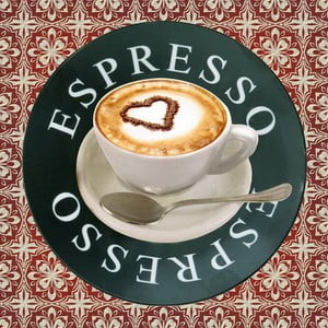 Obraz Espresso, 28x28 cm