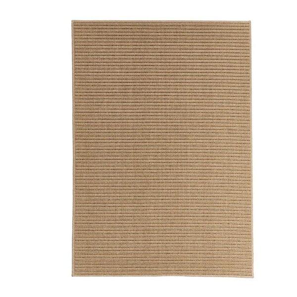 Světle hnědý venkovní koberec Floorita Plain, 133 x 190 cm