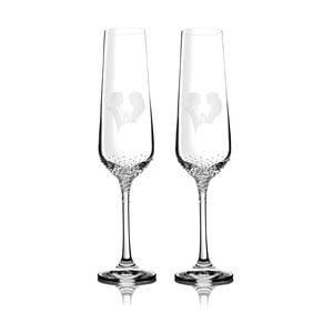 Sada 2 šampaňských fléten Grace se Swarovski Elements v luxusním balení