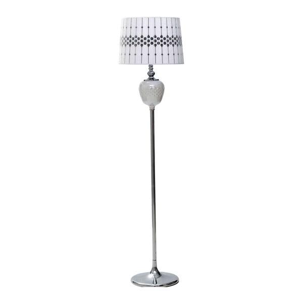 Bílá stojací lampa Mauro Ferretti Round