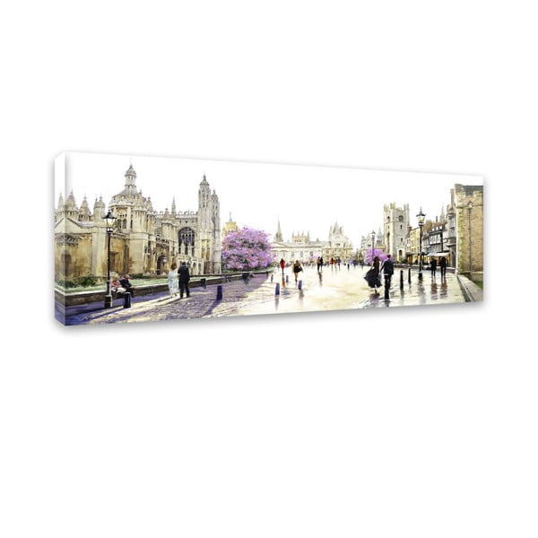 Obraz Styler Canvas Watercolor Cambridge, 45 x 140 cm