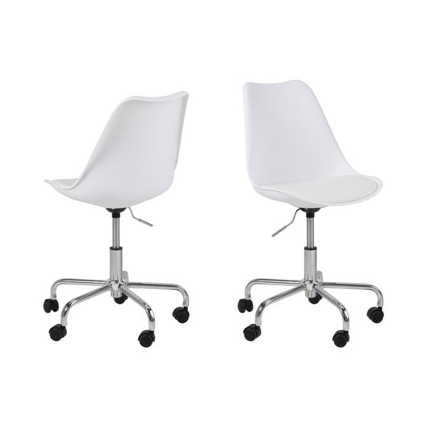 Białe krzesło biurowe na kółkach Actona Dima