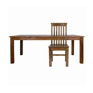 Set masă și scaune din lemn de palisandru Massive Home Irma, 6 persoane
