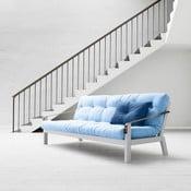 Canapea extensibilă Karup Poetry White/Celeste/Gris
