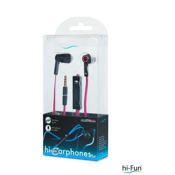Hi-Earphones Sluchátka s mikrofonem, červená