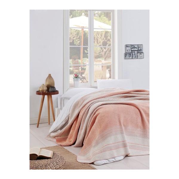 Pătură Puro Lessno, 180 x 220 cm, roz deschis