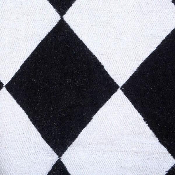 Vlněný koberec Geometry Classic  Black & White, 160x230 cm