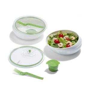 Cestovní miska Lunch Bowl, bílá/zelená
