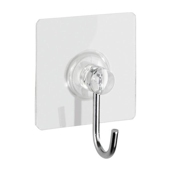 Set 4 cârlige de perete transparente Wenko Static-Loc® Square