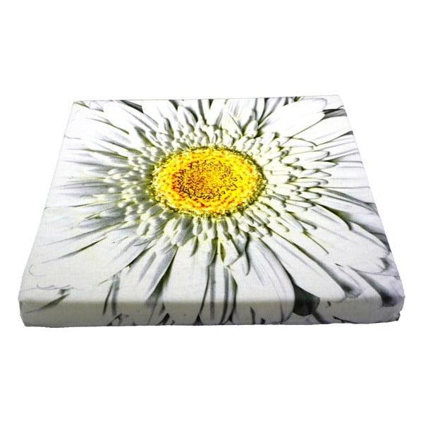 Sedák Flower White 50x50 cm