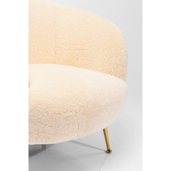 Bílé křeslo Kare Design Perugia