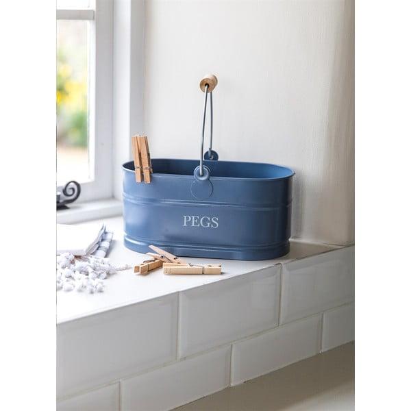 Košík na kolíčky Peg Bucket, modrý