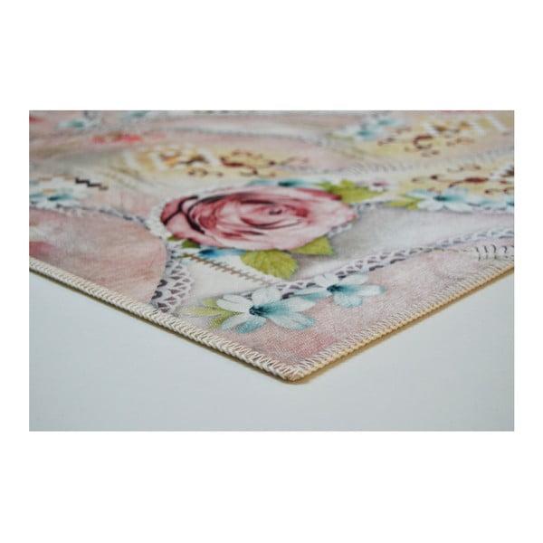 Odolný koberec Vitaus Rosa, 50 x 80 cm