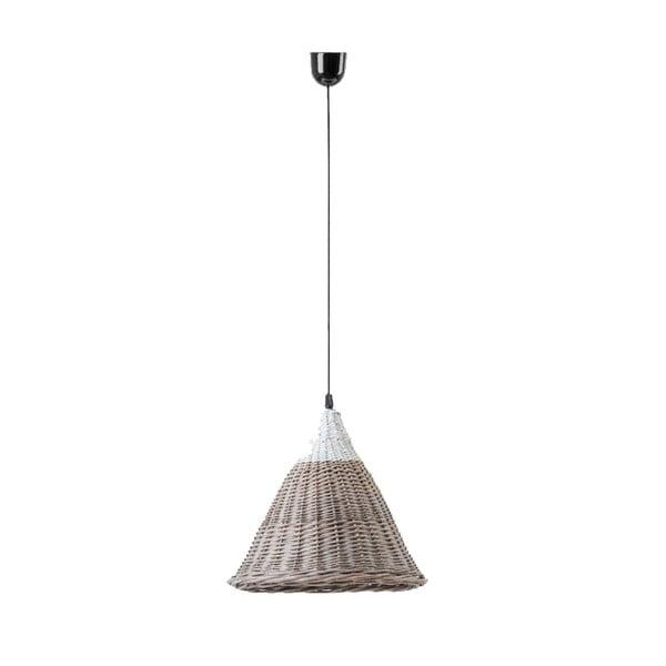 Stropní světlo Kapi, 31x40 cm, hnědé