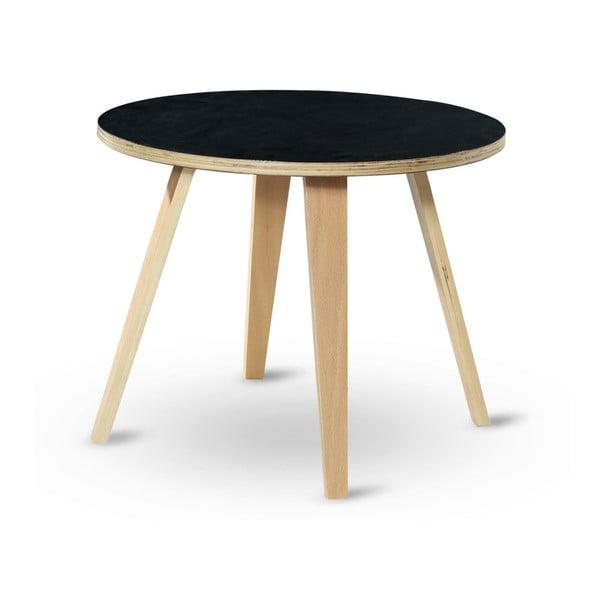 Odkládací stolek s černou deskou Garageeight Arvika, ⌀54cm