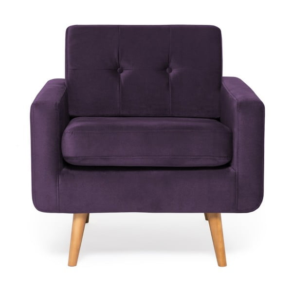 Fioletowy fotel Vivonita Ina Trend