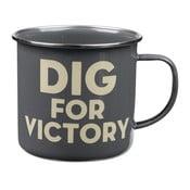Smaltovaný hrnek Dig For Victory
