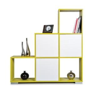 Knihovna Decolour, zelená/bílá