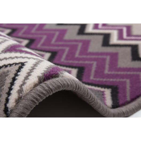 Fialovo-černý koberec Kayoom Stella 700 Violet, 80x150cm