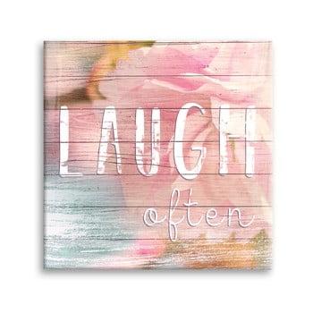 Tablou Styler Canvas Dreams Laugh, 32 x 32 cm de la Styler