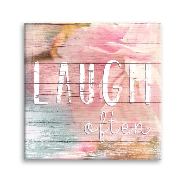 Canvas Dreams Laugh kép, 32 x 32 cm - Styler