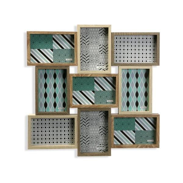 Dřevěný rámeček na 9 fotografií Versa Memories
