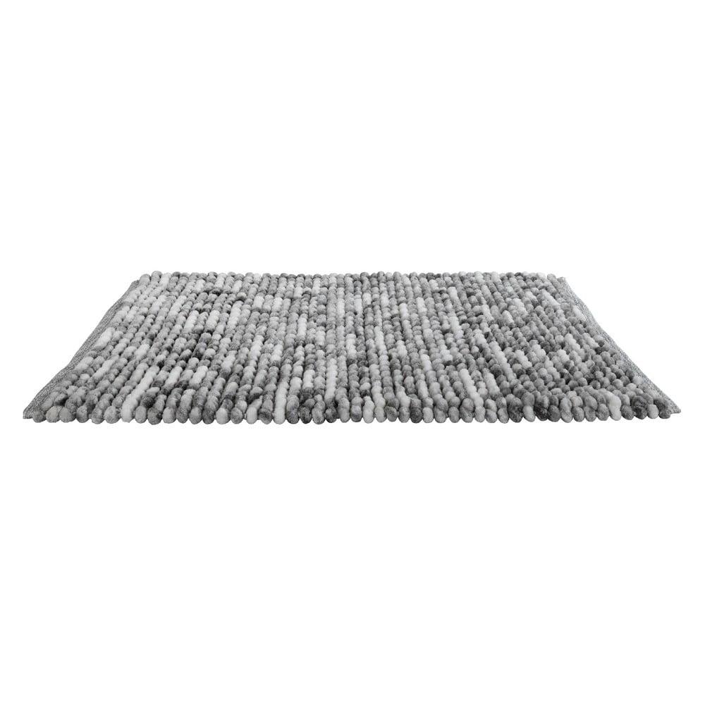 Šedá koupelnová předložka Wenko Smooth Grey, 90 x 60 cm