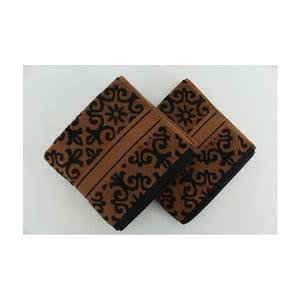 Sada 2 osušek Shiraz Brown Black, 50x90 cm